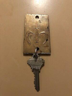 Vintage MARIA ISABEL Mexico City Brass Fob and Key Room 511 Mexico Five Star