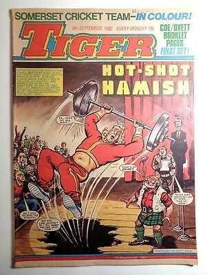 Tiger Comic 4th September 1982 Football Sport Action Fleetway IPC Magazines