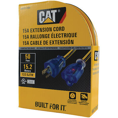 Caterpillar CAT CKEX01-050 Heavy Duty Contractor 15A 12/3 Extension Cord, 50ft.