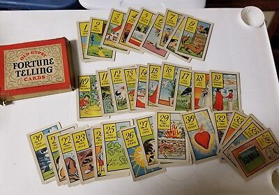 Old Gypsy Fortune Telling Cards 1940s Whitman Vintage Instructions Included