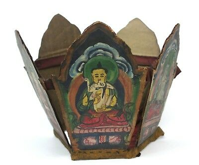 Ritual Buddhist Lama Crown from Tibet, Ceremonial Headdress. Tibetan Original.