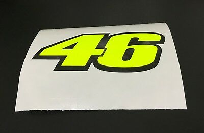 Valentino Rossi 46 Decal Sticker  decal  X 3