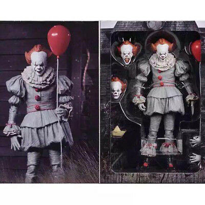 "7"" Ultimate Stephen King's It Pennywise Clown Joker Action Figure Model Toy Doll"