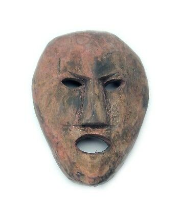 Miniature Wooden Tribal Mask, Nepal, C. 11cm high. Old Nepal Original.