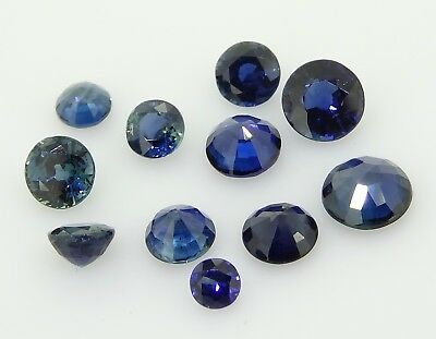 Mixed Round Sapphires 4.39ct Natural Loose Gemstones