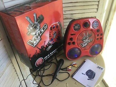 THE VOICE KIDS CD+G KARAOKE PLAYER with light effect / Radio