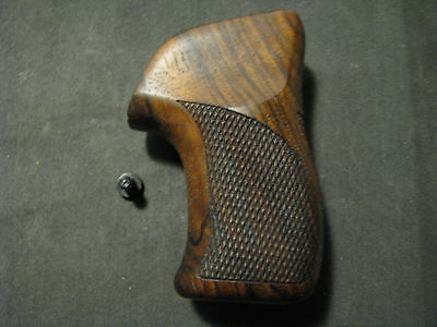 Ruger LCR/LCRx Series French Walnut Checkered+Back+LOGO Pistol Grips NEW DESIGN!