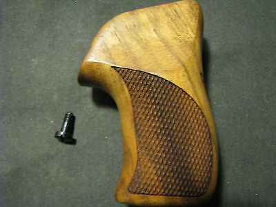 Ruger LCR/LCRx Series French Walnut Checkered+Back Pistol Grips Beautiful NEW!