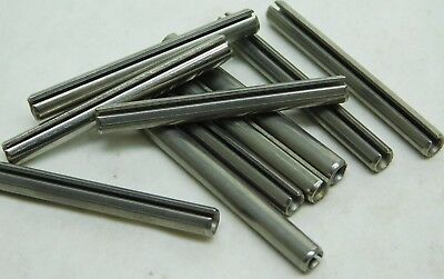 "25 PACK! 420 S.S. Stainless Slotted Roll Spring Pin 3/16"" Dia x 1-3/4"" Length NH"