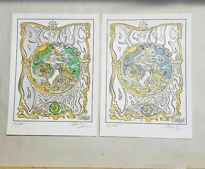 Joshua Levy Bicycle Day  Blotter Art prints  signed and numbered ltd edition set