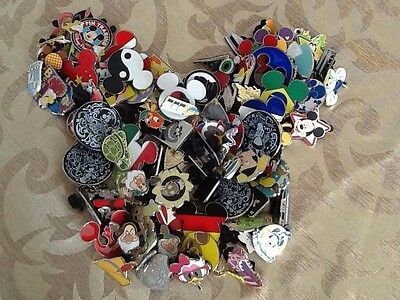 Disney-Pin-Trading-Lot-of-30-Assorted-Pins-No-Doubles-100%Tradeable -A2