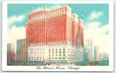 Postcard IL Chicago The Palmer House Hotel Vintage View E7