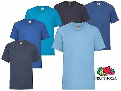 0075fb169 Plain Blue Fruit of the Loom Cotton Childrens Kids Boys Girls T Shirt Tee