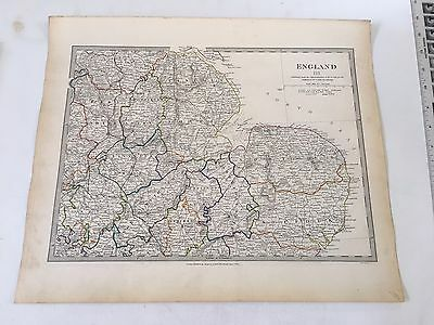 ORIGINAL 1831 SDUK Map Hand Colored England