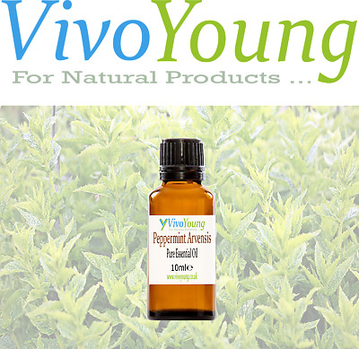 10-50ml Peppermint Arvensis Essential Oil, Pure and Undiluted, Packed in UK