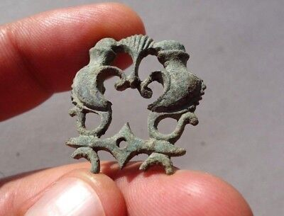 ancient Roman bronze openwork decoration, a part of military equipment