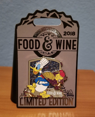 NEW Disney Epcot Food & Wine Festival 2018 Pin Donald Duck LE 4000 Chip Dale Lim