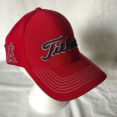 00fe939256c NEW LOS ANGELES Angels Titleist Golf Hat Fitted L XL Red FlexFit ...