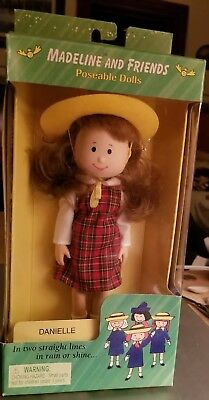 """1998 Madeline & Friends Danielle Poseable Doll 8 1/2"""" New NRFB"""