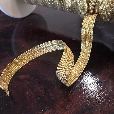 Antique Gold Metallic Shirring Elastic 1.4mm Smocking Beading 5 Metres