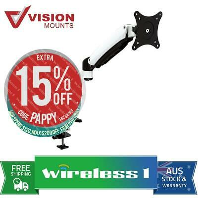 Vision Mounts VM-DS112D Desk Clamp Aluminium Single LCD Monitor Arm up to 27''