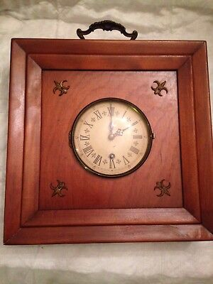 Vintage Trend Clock Retro Wooden Square/box Shaped Wall Clock