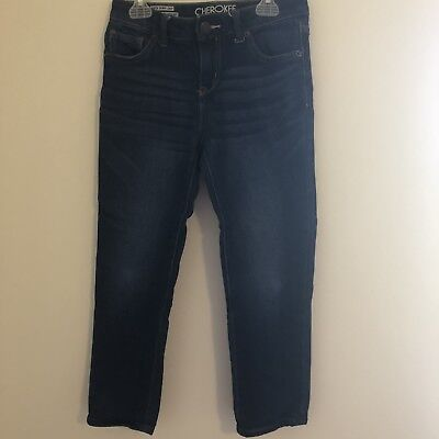 Cherokee Annabelle Cuffed Girls Size 10 Soft Knit Denim Skinny Crop Jeans NWT