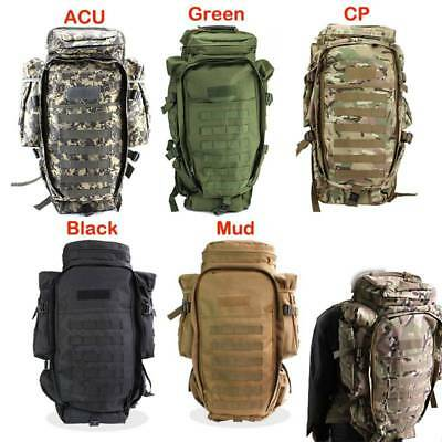 Military Tactical Dual Rifle Backpack Rucksack Outdoor Camping Trekking Bag