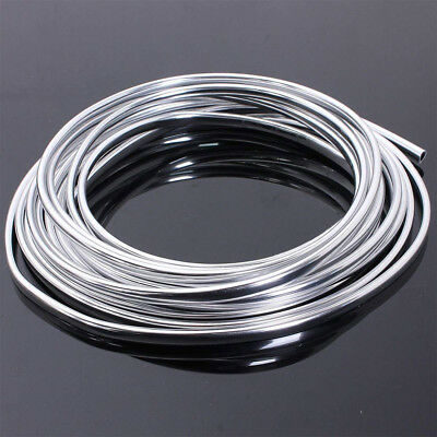 15M/49FT Chrome Moulding Trim Strip Car Door Edge Scratch Guard Protector Cover
