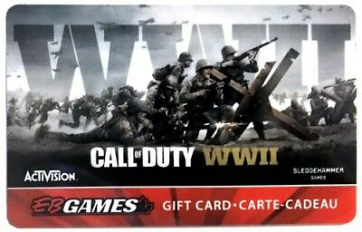 EB Games CALL OF DUTY - WWII collectors gift card