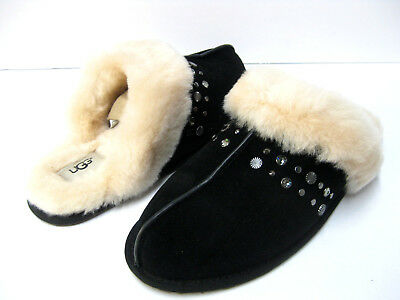 a8ad15ee7d5 UGG SCUFFETTE II Studded Bling Seashell Pink Suede Fur Slippers Size ...