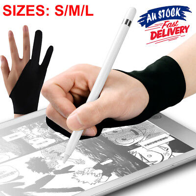 1pc Tablet Artist Professional Graphic Sketch Drawing Writing Two Finger Glove