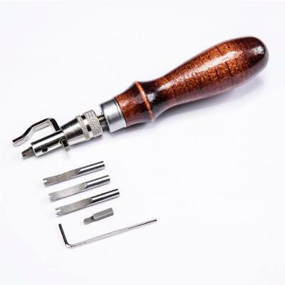 5 In 1 DIY Leather Adjustable Stitching Groover Crease Leather Tools Lot Set