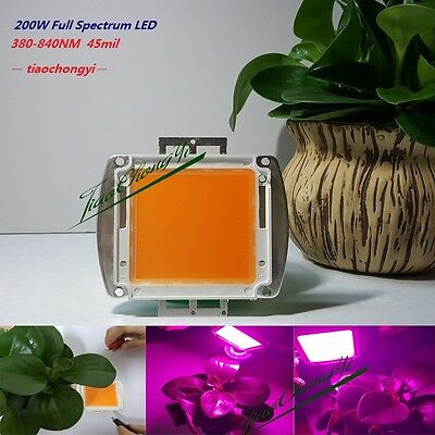 200W 380nm - 840nm High Power Full Spectrum LED Chip Grow Light for hydroponics