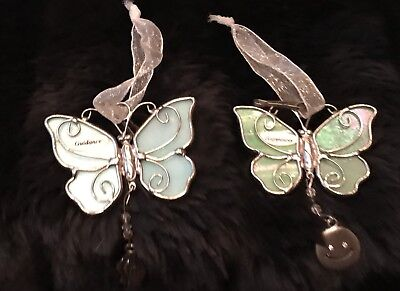 Beautiful Stained Glass Sun Catcher Butterfly Charm Ornaments