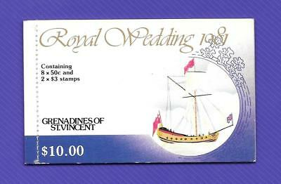 "1981 Grenadines Of St. Vincent ~ Royal Wedding ~ "" $10 Booklet "" Mint Un Hinged"