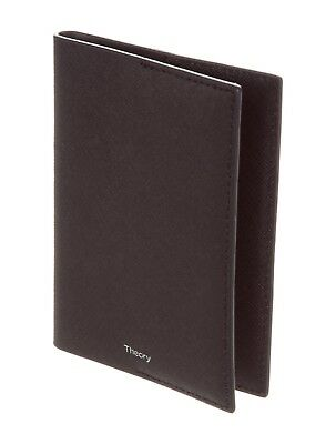 Theory Leather Passport Black Holder Cover Travel Dillon Classic