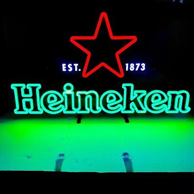 Heineken Neon LED SIGN home Bar Mancave Pub Tavern