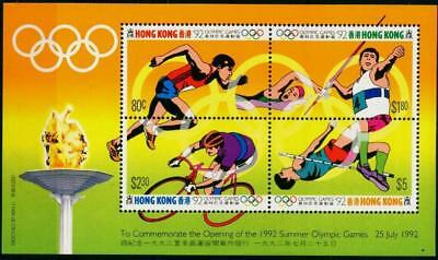Hong Kong 1992 MNH MUH M/S - Olympics Games - Barcelona, Spain  (Series II)