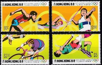 Hong Kong 1992 MNH MUH Set - Olympics Games - Barcelona, Spain