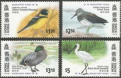 Hong Kong 1997 MNH MUH Set - Migratory Birds