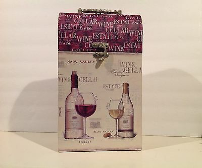 Wine Double Bottle Chest Carrier Holder Art in Motion by Emily Adams