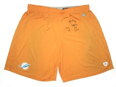 Aj Francis Player Issued   Signed Official Miami Dolphins  96 Nike 3Xl  Shorts 27fee0eaa