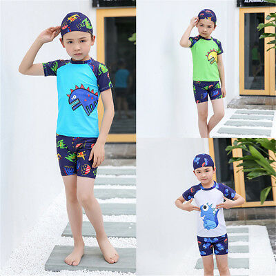 Boys Lifeguard On Duty All In One Swimsuit Surf Suit Swim Costume