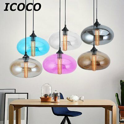 6 Color Lot Style Hanging Pendant Light Ceiling Glass Lamp Shade Amber Coffee MA