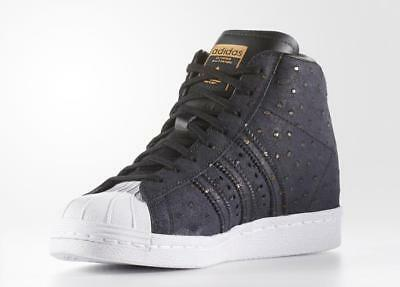 finest selection 84d15 020a7 Adidas Originals Superstar Up Hi Sneakers Women Shoes Black S76403 Size 10  New