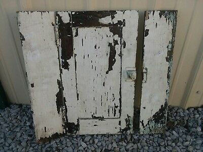 1800s Antique Vintage Small Cabinet Door Flaky White Paint Crafts Decor