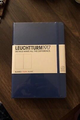 Leuchtturm1917 - Large Notebook - Blank Pages - Blue