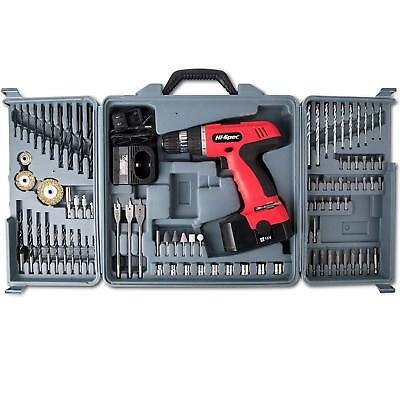 Hi-Spec 18V Cordless Electric Power Drill 800Mah Nimh With 89Pc Wood, Masonry