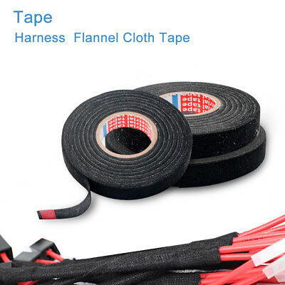 Wiring Cable Loom Harness Cloth Fabric Install Tape Roll 9Mm/15Mm/19Mm X 15M/25M